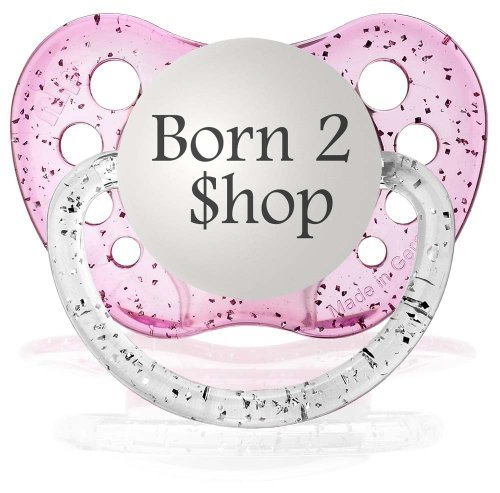 Personalized Pacifiers Born 2 Shop Pacifier in Pink - 1