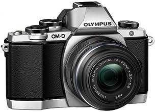 Olympus OM-D E-M10 Fotocamera Mirrorless 16 MP, Kit con Obiettivo M.Zuiko 14 - 42mm f3.5-5.6 II R, Argento/Nero