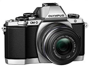 """Olympus E-M10 Appareil photo numérique hybride 16,1 Mpix - Écran Tactile Inclinable 3"""" - Kit Boîtier + Objectif 14-42mm - Argent"""