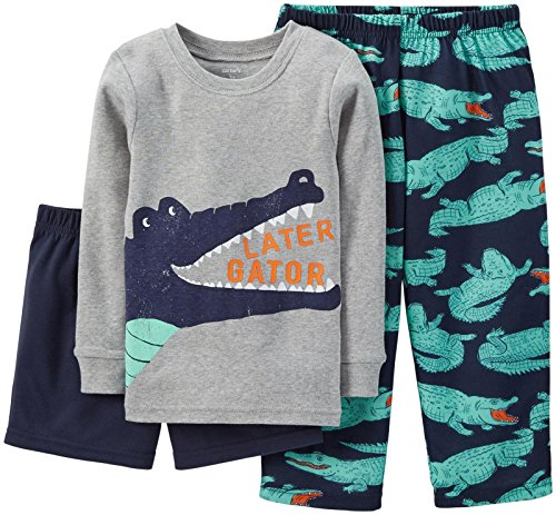 Carter's Baby Boys' 3 Piece Graphic PJ Set (Baby) - Alligator - 12 Months