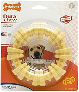 Nylabone Dura Chew Plus Textured Ring Dog Chew Toy, Large