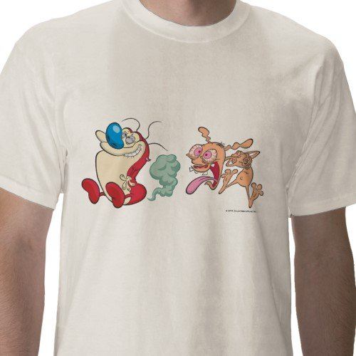 Ren & Stimpy: Passing Gas Tee - Mens