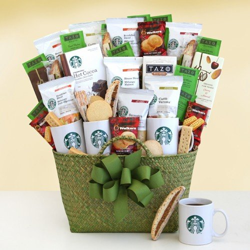 A Grand Celebration Deluxe Coffee And Tea Gourmet Gift Basket