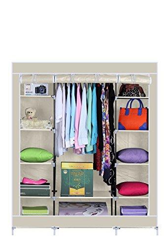 armario-de-tela-tres-puertas-acabado-en-color-beige-medidas-150-175-45-cm