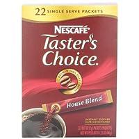 Nescafe Taster's Choice House Blend Instant Coffee, 22 Count Single Serve Sticks