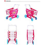 Beiens Baby Supermarket Shopping Cart Pretending Play Toy Set