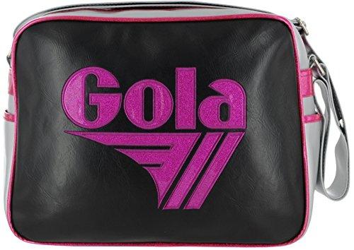 Borsa GOLA Redford Glitter - ZCUB661XJ - 36x27 - Black/Silver/Fuchsia