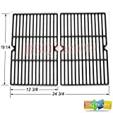 bbq factory Replacement Cast Iron Cooking Grid Porcelain coated Set of 2 for Select Gas Grill Models By Weber, Aussie, BBQ Grillware,Charmglow ,Costco,Grill Zone,For Jenn-Air, Nexgrill, Perfect Flame, Presidents Choice and Others