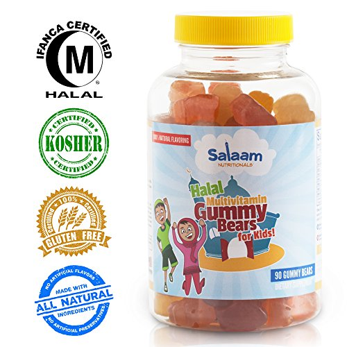 Salaam Nutritionals Kids Complete Gummy Multivitamins: Healthy Natural Nutrition, Vitamin C, Vitamin D3, Folic Acid, Vegetarian, Halal Vitamin, Kosher (Halal Vitamin D compare prices)