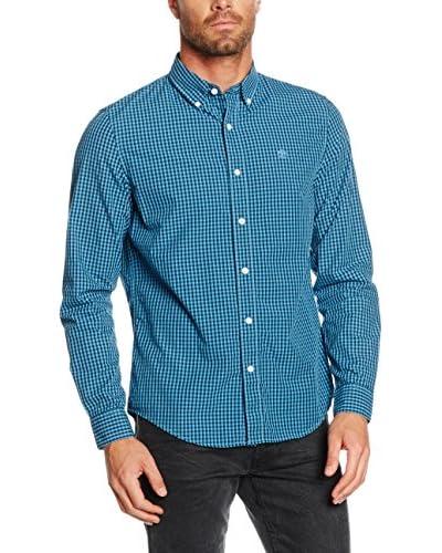 Timberland Camicia Uomo Tfo Ls Indr Pop Gng Niagara Yd [Azzurro/Blu]