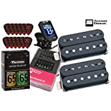 Seymour Duncan Hot Rodded Humbucker Matched Guitar Pickup Set with True Tune Tuner, Dunlop Care Kit, Fender Picks SH-4b