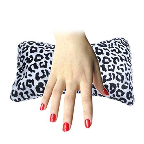 Culater® Knochenform Nageldesign Leopard Kissen Spalte Schwamm Hand Kissen Schwarz Und Weiß