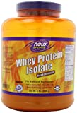 NOW Foods Whey Protein Isolate, Dutch Chocolate, 5-Pound Jar