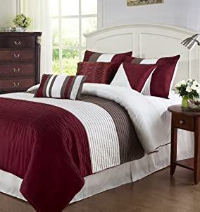 Amazon Com Cozy Beddings Tayler 7 Piece Comforter Set