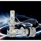 KOOMTOOM LED Headlight LENS Cree XHP70 Bulbs CANBUS ERROR FREE High Power Billiant Bright 70w, 12,000LM for D1C D1R D1S D3R D3S D2 D2S D2C D2R D4R D4S Type - 2 YR Warranty … (D2S)