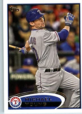 2012 Topps Baseball Card #55 Michael Young - Texas Rangers - MLB Trading Card
