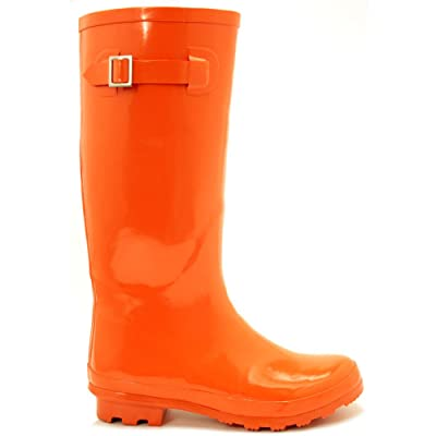 Spy Love Buy Fluorescent Festival Wellies Wellingtons Flat Boots 'Sydney'