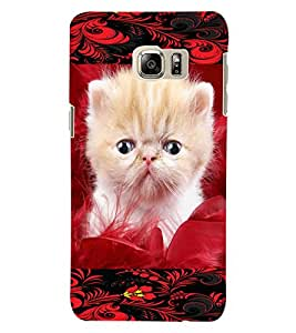 ColourCraft Cute Kitty Design Back Case Cover for SAMSUNG GALAXY NOTE 5 EDGE