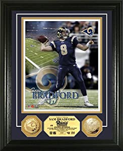 NFL St. Louis Rams 24KT Gold Coin Photo Mint by Highland Mint
