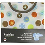 Kushies B274-41 Waterproof Bib with Sleeves, White Circle, Infant