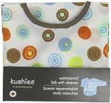 Kushies Waterproof Bib with Sleeves, White Circle, Infant
