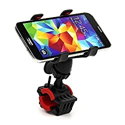 Eagwell Universal 360 Degrees Rotating Motorcycle Bicycle Bike Cellphone GPS MTB Support Handlebar Mount Holder for Galaxy S6 S5 S4 S3 S2 Note 4 Note 3 Note 2, Htc One Max M8 M7, Iphone 6 4,7, Iphone 6 Plus, Iphone 5s 5g 4s 4