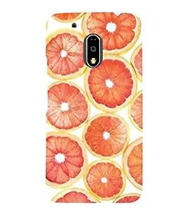 Oranges 3D Hard Polycarbonate Designer Back Case Cover for Motorola Moto G4