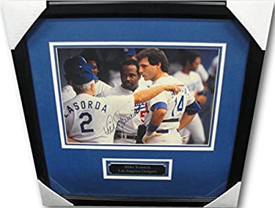 Mike Scioscia Autographed Signed 11X14 Photo Los Angeles Dodgers Custom Framed