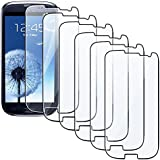 niceEshop Premium Clear Mirror Screen Guard Front Protector for Samsung Galaxy S3 I9300,6 Piece