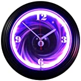 8 Ball Swirl Neon Wall Clock (Black/Multi) (15