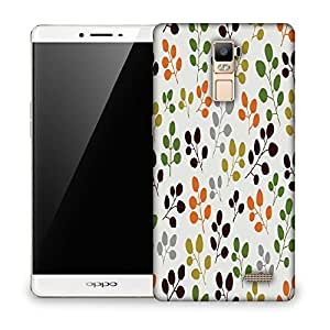 Snoogg Multicolor Leaves Designer Protective Phone Back Case Cover For Oppo R7 PLUS