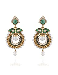 I Jewels Tradtional Gold Plated Elegantly Handcrafted Pair Of Fashion Earrings For Women. - B00N7INUIQ