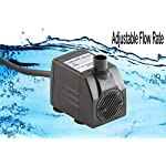 Tiger Pumps 120GPH Submersible Water Pump, Pond Pump, Aquarium Pump, Fish Tank Pump, Fountain Pump With 120 GPH Pump Excellent Powerheads For Aquariums Hydroponics Air Pump With 5 Feet Power Cord