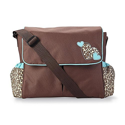Tender Kisses Fashion Messenger Diaper Bag - Leopard Spot