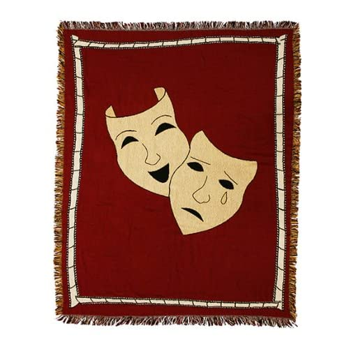 Comedy Tragedy Masks Home Theater Throw Blanket  Home