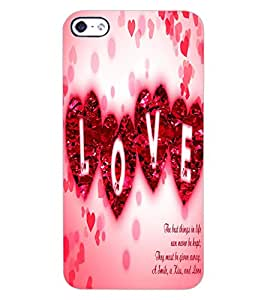 ColourCraft Love Quote Design Back Case Cover for APPLE IPHONE 4S