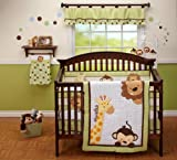 NoJo Little Bedding  Jungle Pals 4 Piece Crib Set