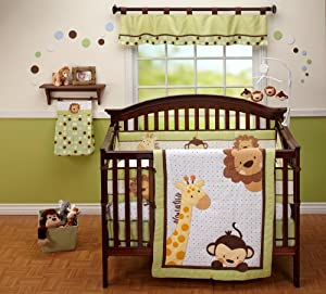 NoJo Little Bedding  Jungle Pals 4 Piece Crib Set