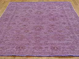 5 x 7 HAND KNOTTED OVERDYED PURPLE PESHAWAR ORIENTAL RUG G22743