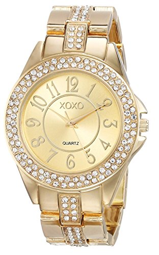 New Xoxo Watch Women'S Watch Xo5465 Rhinestone Accent Dial Gold-Tone Bracelet Watch front-825110