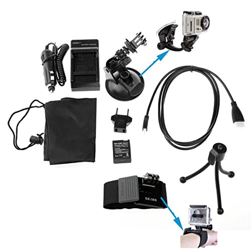 Sinvitron 8 in 1 Gopro Accessory Kit Charger