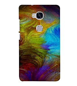 PrintVisa Colorful Modern Art Design 3D Hard Polycarbonate Designer Back Case Cover for Huawei Honor 5X