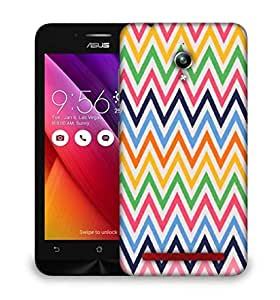 Snoogg white space wave pattern 2528 Designer Protective Back Case Cover For Asus Zenfone GO