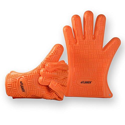 Paire de gants pour cuisine et BBQ résistant à l'eau et au feu de Flamen, Deux pieces