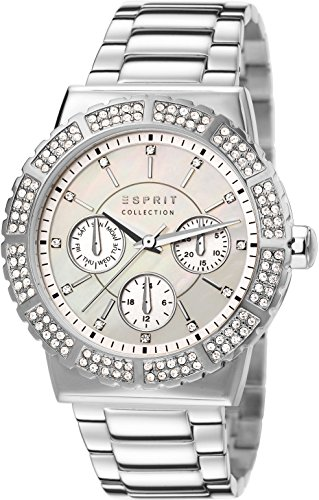 Esprit  ANGELIA - Reloj de cuarzo para mujer, con correa de acero inoxidable, color plateado