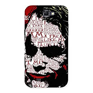 Impressive Mad Typo Multicolor Back Case Cover for Galaxy Note 2