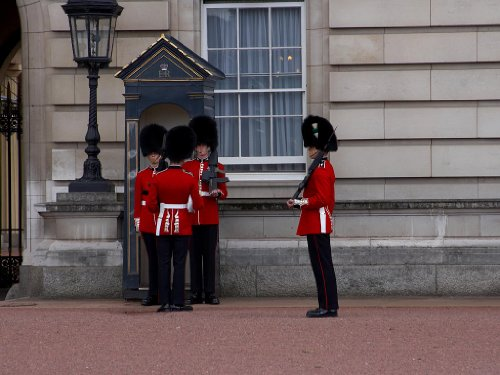 Photo Image Sheet of 21 Stickers Guards At Buckingham Palace