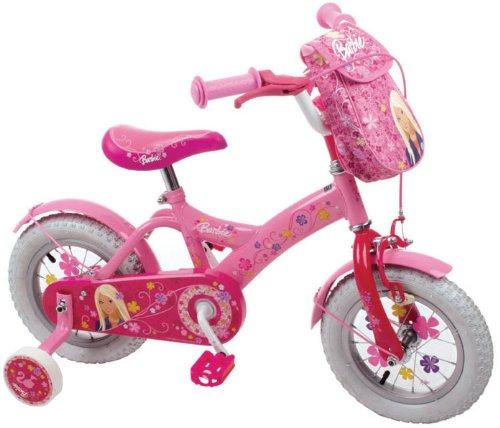 barbie fahrrad 30 48 cm 12 zoll barbie kinderfahrrad mit. Black Bedroom Furniture Sets. Home Design Ideas