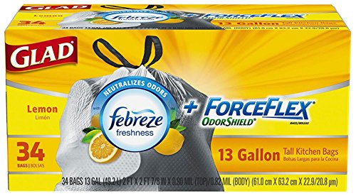 glad-13-gallon-forceflex-odor-shield-fabreze-fresh-lemon-scent-drawstring-tall-kitchen-bags-34-ct