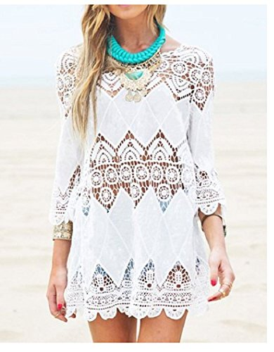 Women's Swimwear Beachwear Crochet Tunic Cover Up Beach Dress Bikini Cover-up